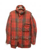 PEEL&LIFT(ピールアンドリフト)の古着「tartan slingmaster jacket」 レッド×グレー
