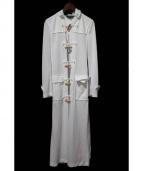 COMME des GARCONS HOMME PLUS(コムデギャルソンオムプリュス)の古着「スタッズデザインジャージーダッフルコート」 ホワイト