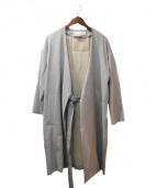 PEGGY LANA(ペギーラナ)の古着「17SS/ノーカラータイロッケンコート」|グレー