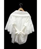BLACK by moussy(ブラックバイマウジー)の古着「カシュクールシャツ」|ホワイト