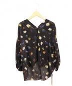 PEGGY LANA(ペギーラナ)の古着「17AW/コスモスパフスリーブシャツ」|ブラック