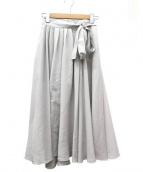 PEGGY LANA(ペギーラナ)の古着「フレアラップスカート」|ライトグレー