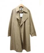 BLACK by moussy(ブラックバイマウジ)の古着「オーバーコート」|ベージュ