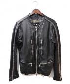 GIORGIO BRATO(ジョルジオブラット)の古着「×DUCATI/スタッズレザージャケット」|ブラック