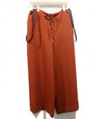 PEGGY LANA(ペギーラナ)の古着「サスペンダー付パンツ」|ブラウン