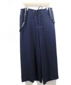 PEGGY LANA(ペギーラナ)の古着「サスペンダー付パンツ」|ネイビー