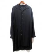 GROUND Y(グランド ワイ)の古着「開襟ロングシャツ」|ブラック