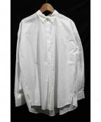 BLACK by moussy(ブラックバイマウジー)の古着「17AW/コットンシャツ」 ホワイト