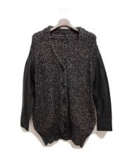 ALEXANDER WANG(アレキサンダーワン)の古着「袖レザーニットジャケット」|ブラック