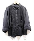 PEGGY LANA(ペギーラナ)の古着「17AW/Layered Combi Shirt/レイヤード」|ブラック