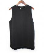 DAMIR DOMA(ダミールドマ)の古着「ノースリーブスウェット」|ブラック