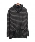 DAMIR DOMA(ダミールドマ)の古着「ストライプロングジャケット」|ブラック