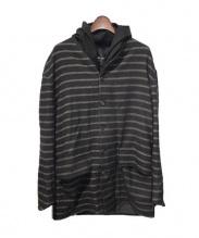 DAMIR DOMA(ダミールドーマ)の古着「ストライプロングジャケット」|ブラック