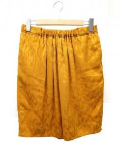 DRAWER(ドゥロワー)の古着「シルクスカート」|マスタード