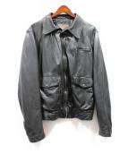 PRADA SPORTS(プラダスポーツ)の古着「レザージャケット」|ブラック
