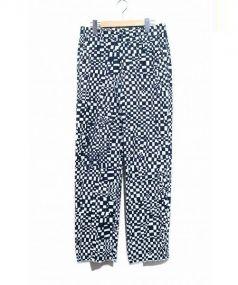 BLESS(ブレス)の古着「総柄パンツ」|ホワイト×ブラック
