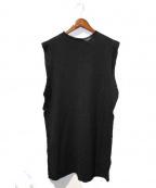 DAMIR DOMA(ダミールドマ)の古着「ノースリーブニット」|ブラック