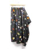 PEGGY LANA(ペギーラナ)の古着「17AW/コスモスアシンメトリックスカート」|ブラック