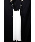 TOGA(トーガ)の古着「ビスコースドレス/サスペンダーワンピース」 ホワイト