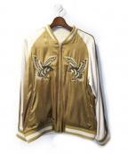 Varde77(バルデセブンティセブン)の古着「リバーシブルスカジャン」 ベージュ
