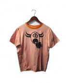 Lucien pellat-finet(ルシアン・ペラフィネ)の古着「プリントTシャツ」|オレンジ