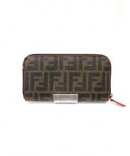 FENDI(フェンディ)の古着「ラウンドファスナー長財布」|ブラウン