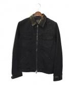 ISAMU KATAYAMA BACKLASH(イサムカタヤマ バックラッシュ)の古着「加工デニムジャケット」|ブラック