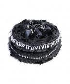 TAO COMME des GARCONS(タオ コムデギャルソン)の古着「リボンパール装飾クッション」|ブラック