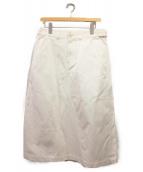 COMME des GARCONS Homme Plus(コムデギャルソンオムプリュス)の古着「切替ロングスカート」|ホワイト