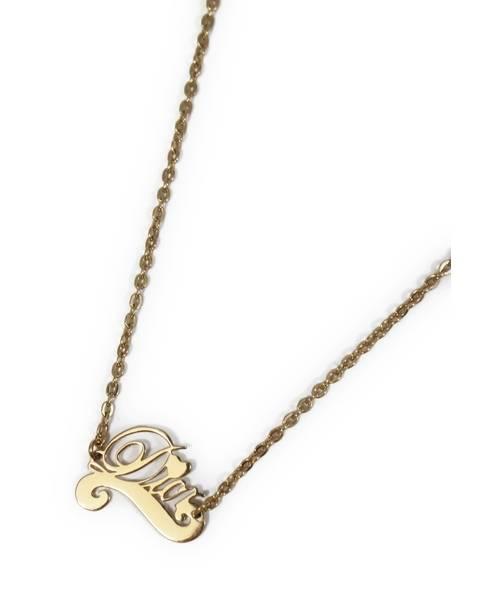 premium selection efe73 3111d [中古]Christian Dior(クリスチャンディオール)のレディース アクセサリー ロゴネックレス