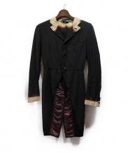 COMME des GARCONS HOMME PLUS EVERGREEN(コムデギャルソン オムプリュス エバーグリーン)の古着「ブリーチデザインコート」 ブラック