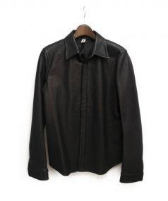 wjk(ダヴルジェイケイ)の古着「レザーシャツジャケット」|ブラック