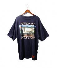 HERON PRESTON(ヘロン プレストン)の古着「Blue jersey print t-shirt」|ネイビー