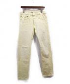 Dior Homme(ディオールオム)の古着「カラーデニムパンツ」|イエロー