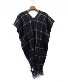 SUNSEA(サンシー)の古着「ポンチョストールマフラー」|ネイビー