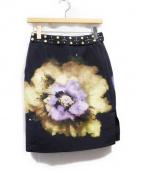 UNDERCOVER(アンダーカバー)の古着「転写デザインスタッズスカート」|ブラック