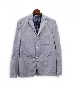 COMME des GARCONS HOMME(コムデギャルソンオム)の古着「テーラードジャケット」|ブルーxホワイト