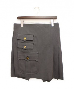 COMME des GARCONS HommePlus(コムデギャルソンオムプリュス)の古着「スカート付ハーフパンツ」|グレー