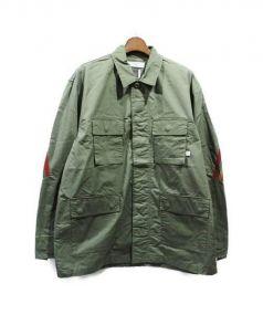 FACETASM(ファセッタズム)の古着「リブM65ジャケット」 カーキ