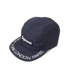 SUPREME(シュプリーム)の古着「supreme visor print camp cap」|ネイビー
