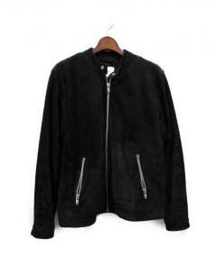 WEARECPH(ウィーアーコペンパーゲン)の古着「スウェードジャケット」|ブラック