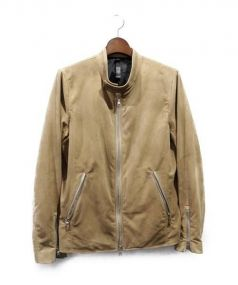wjk(ダブルジェイケイ)の古着「スウェードフェイクレザージャケット」|キャメル