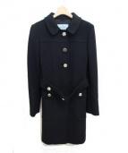 PRADA(プラダ)の古着「ベルテッドコート」 ブラック