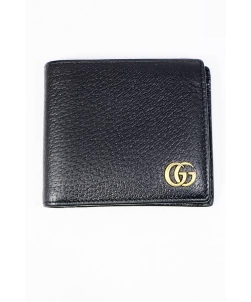 32d55e81142b GUCCI (グッチ) GGマーモント/2つ折り財布 ブラック GGマーモント 428725.203887. GUCCI