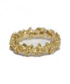 Flower motif ring(フラワーモチーフリング)の古着「フラワーモチーフリング」 ゴールド