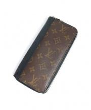 LOUIS VUITTON(ルイヴィトン)の古着「ポルトフォイユタノン/ラウンドジップ長財布」|ブラウン×ブラック