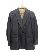 BRUNELLO CUCINELLI(ブルネロクチネリ)の古着「ダブルジャケットセットアップスーツ」|ネイビー