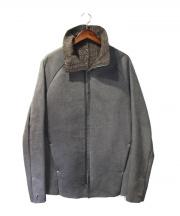ISAAC SELLAM(アイザックセラム)の古着「ムートンレザージャケット」|グレー
