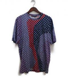 LOUIS VUITTON(ルイ・ヴィトン)の古着「モノグラムスター柄Tシャツ」|ネイビー×レッド