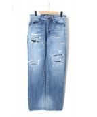 e jeans(イージーンズ)の古着「デニムパンツ」|インディゴ